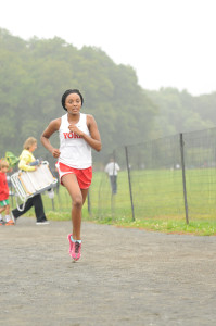 Freshman, Alana Johnson, running. (PHOTO: VERITY ROLLINS)