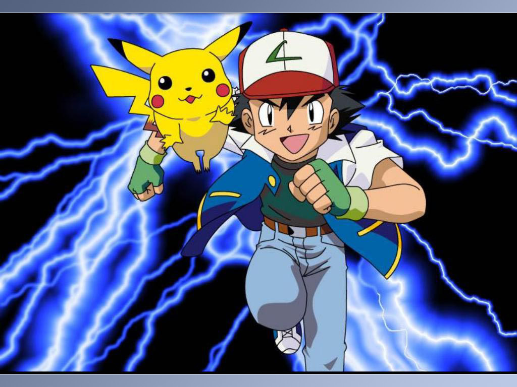 Pokémon characters Pikachu and Ash. PHOTO CREDIT: FANPOP.COM