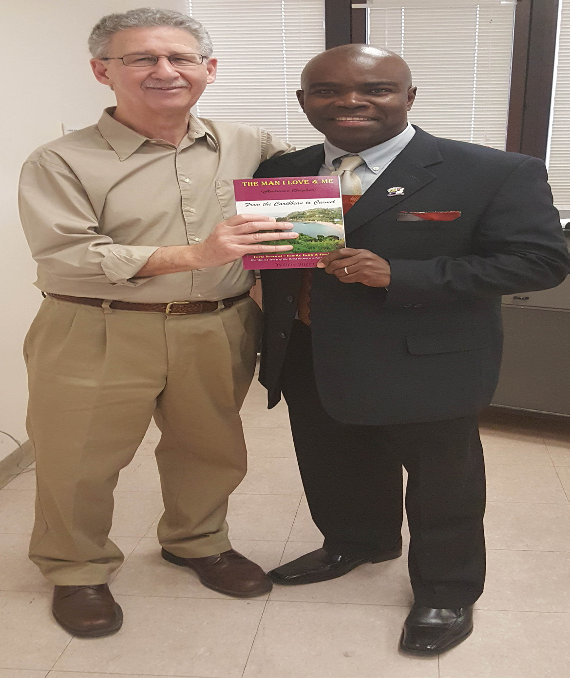 Professor Glenn Lewis with York Alum Willis Burris. PHOTO BY Bintia Drame